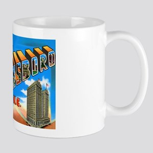 Greensboro North Carolina Greetings Mug