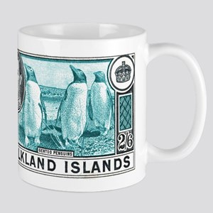 1938 Falkland Islands Gentoo Penguins Stamp Mug