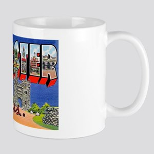 Worcester Massachusetts Greetings Mug
