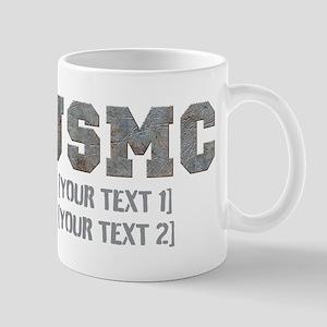 Custom Text Rusty USMC Mug