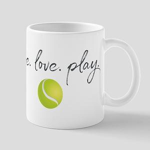 Live Love Play Tennis 11 oz Ceramic Mug