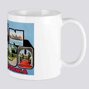 San Diego California Greetings Mug