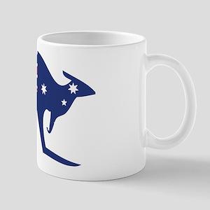 australian flag kangaroo Mug