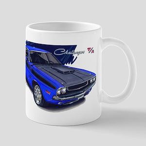 Dodge Challenger Blue Car Mug