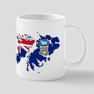Falkland Islands Silhouette Flag Map Mugs