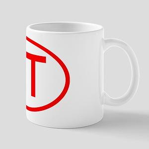 QT Oval (Red) Mug