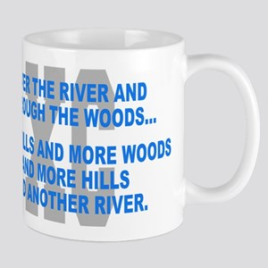 Over the River Cross Country Quote Mugs