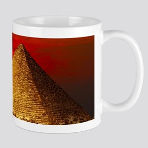 Egyptian Pyramids At Sunset Mugs