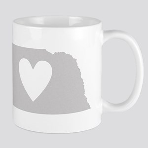 Heart Nebraska Mug