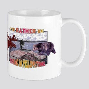 I'd Rather be Fishing in Yell Mug