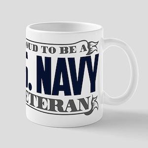 Proud To Be A U.S. Navy Veteran Mug