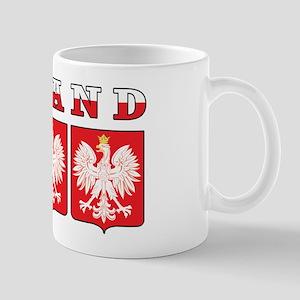 Poland Flag Eagle Shields Mug