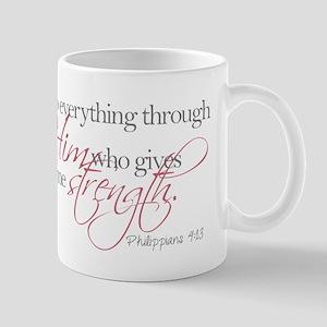 He gives me strength Mugs