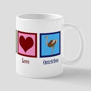 Peace Love Ostriches 11 oz Ceramic Mug