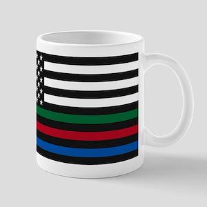 Thin Blue Line Decal - USA Flag - Red, Blue a Mugs