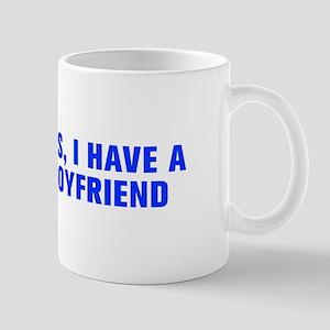 Yes I have a boyfriend-Akz blue Mugs