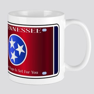 Tennessee State License Plate Flag Mugs