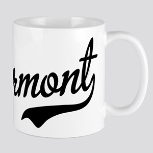 Vermont Script Black Mug