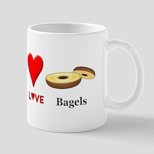 Peace Love Bagels Mug