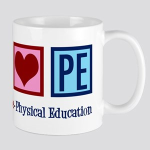 Peace Love PE Teacher 11 oz Ceramic Mug