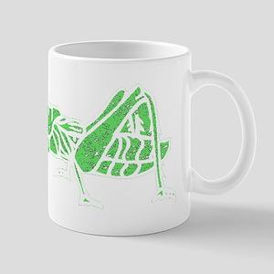 Distressed Green Grasshopper Mugs