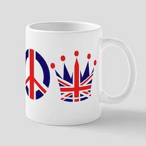 Heart, Peace, Crown - Britiain! Mug