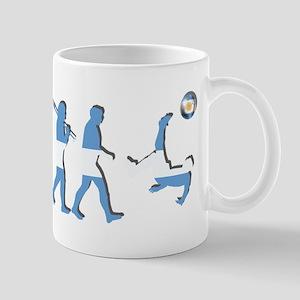 Argentinia Soccer Evolution 11 oz Ceramic Mug