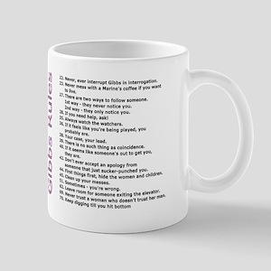 NCIS Gibbs Rules Pink Text Mugs
