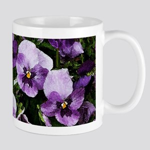 Pansies after a rain Mug
