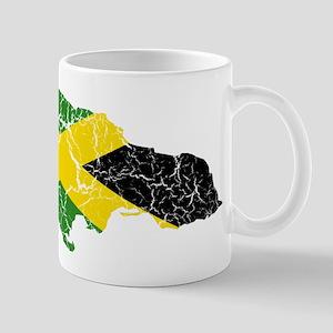 Jamaica Flag And Map Mug
