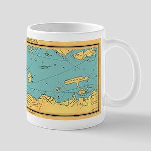Panoramic 1911 Lake Winnipesaukee Map Large Mugs