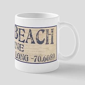 York Beach Lat Long Mugs