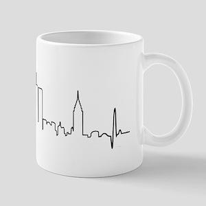 New York Heartbeat Letters Mug