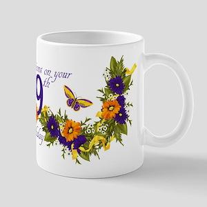 99th Birthday Mug With Butterflies And Mugs