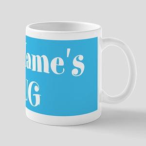 LIGHT BLUE Personalized 11 oz Ceramic Mug