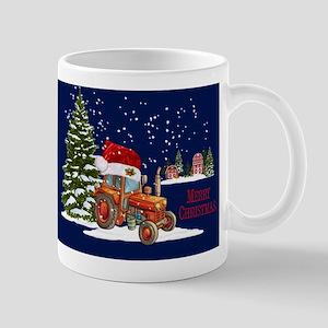 Merry Christmas Farm Tractor Mugs