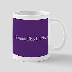 Gamma Rho Lambda Letters Mug