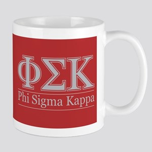Phi Sigma Kappa Letters Crest Mug