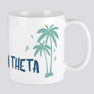 Phi Delta Theta Beach Palm Tree 11 oz Ceramic Mug