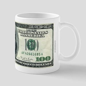 100 Dollar Bill 11 Oz Money Mug Mugs