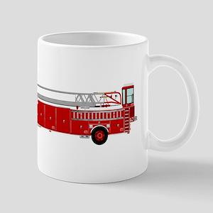 Fire Truck - Traditional ladder fire truck re Mugs
