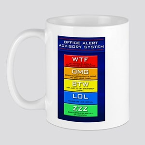 Office Alert Advisory (Plain) Mug