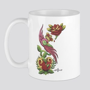 Swallow Crown Tattoo Mug