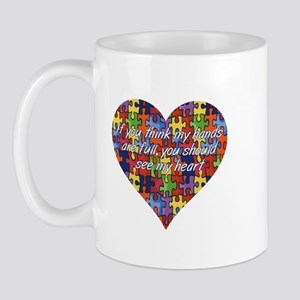 Autism Hands full, See my heart Mug