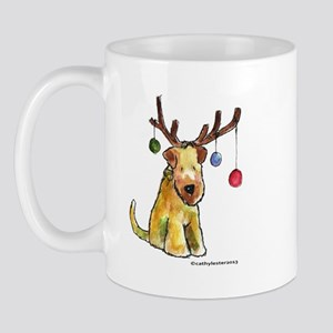 Wheaten terrier with Christmas Antlers Mug