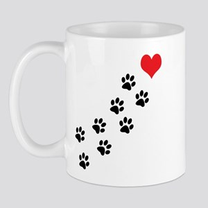 Paw Prints To My Heart Mug