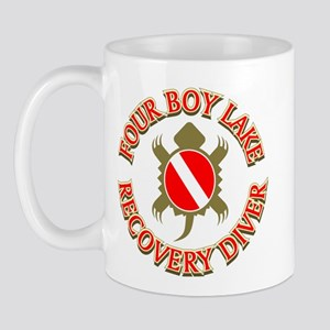 Four Boy Lake Recover Diver Mug
