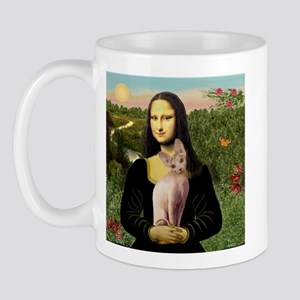 Sphynx Cat & Mona Lisa Mug