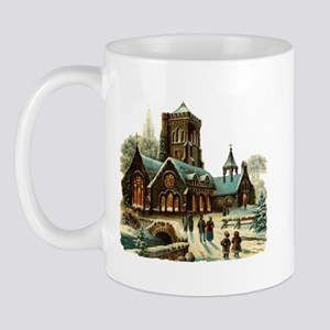Christmas Night - Victorian Church Scene Mug