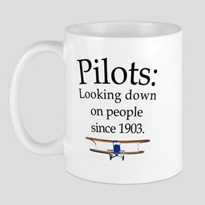 Pilots: Looking down on peopl Mug